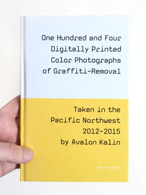 104 Digitally Printed Color Photographs of Graffiti Removal by Avalon Kalin